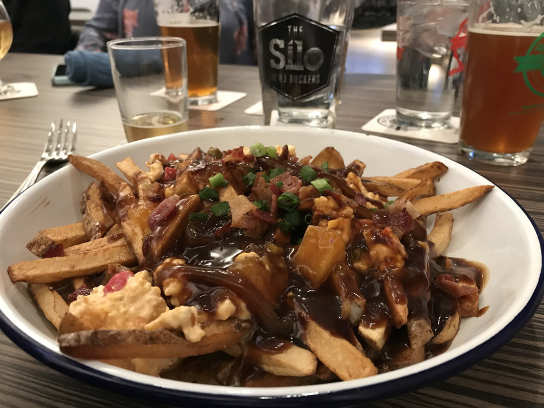 Upstate Poutine at The Silo at RJ Rockers restaurant in Spartanburg SC
